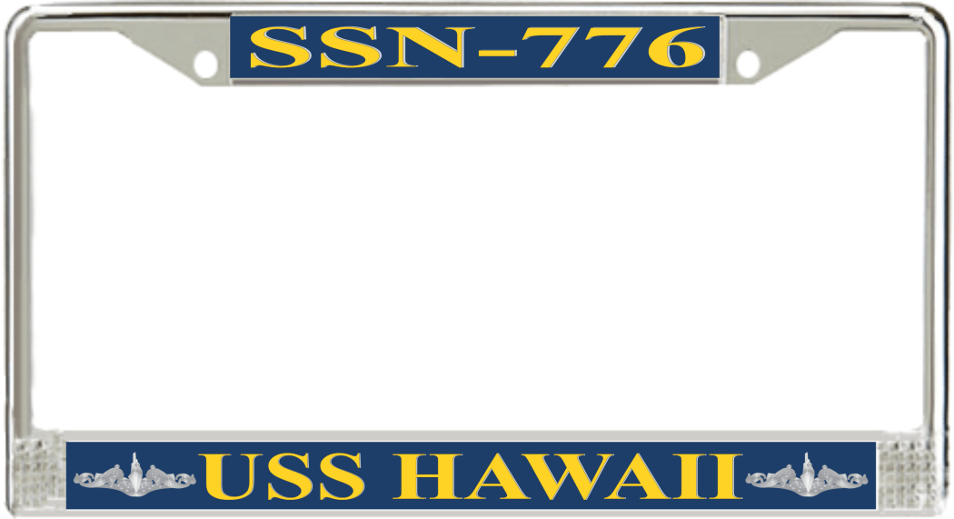 USS Hawaii SSN-776 License Plate Frame - Submarine Ship\'s Store