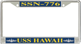 USS Hawaii SSN-776 License Plate Frame