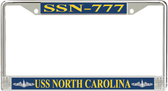 USS North Carolina SSN-777 License Plate Frame