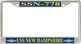 USS New Hampshire SSN-778 License Plate Frame