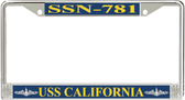 USS California SSN-781 License Plate Frame