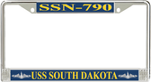 USS South Dakota SSN-790 License Plate Frame