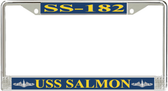 USS Salmon SS-182 License Plate Frame