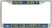 USS Grampus SS-207 License Plate Frame