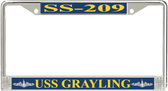 USS Grayling SS-209 License Plate Frame