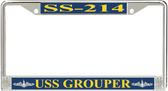 USS Grouper SS-214 License Plate Frame