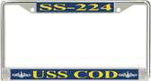 USS Cod SS-224 License Plate Frame