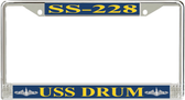 USS Drum SS-228 License Plate Frame