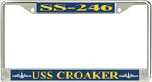 USS Croaker SS-246 License Plate Frame