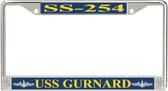 USS Gurnard SS-254 License Plate Frame