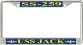 USS Jack SS-259 License Plate Frame