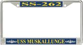 USS Muskallunge SS-262 License Plate Frame