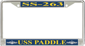 USS Paddle SS-263 License Plate Frame