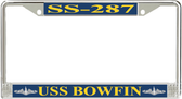 USS Bowfin SS-287 License Plate Frame