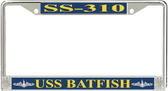 USS Batfish SS-310 License Plate Frame