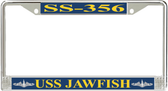 USS Jawfish SS-356 License Plate Frame
