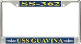 USS Guavina SS-362 License Plate Frame