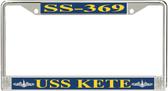 USS Kete SS-369 License Plate Frame