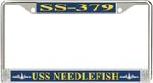 USS Needlefish SS-379 License Plate Frame