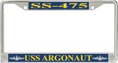 USS Argonaut SS-475 License Plate Frame
