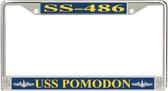 USS Pomodon SS-486 License Plate Frame