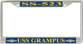 USS Grampus SS-523 License Plate Frame