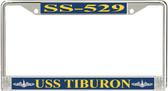 USS Tiburon SS-529 License Plate Frame