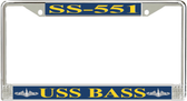 USS Bass SS-551 License Plate Frame