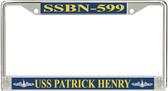 USS Patrick Henry SSBN-599 License Plate Frame