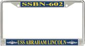 USS Abraham Lincoln SSBN-602 License Plate Frame