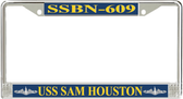 USS Sam Houston SSBN-609 License Plate Frame