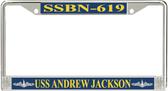 USS Andrew Jackson SSBN-619 License Plate Frame