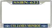 USS James Monroe SSBN-622 License Plate Frame
