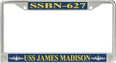 USS James Madison SSBN-627 License Plate Frame
