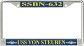 USS Von Steuben SSBN-632 License Plate Frame