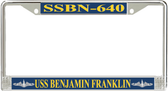 USS Benjamin Franklin SSBN-640 License Plate Frame