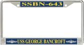 USS George Bancroft SSBN-643 License Plate Frame