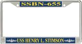USS Henry L. Stimson SSBN-655 License Plate Frame