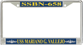 USS Mariano G. Vallejo SSBN-658 License Plate Frame