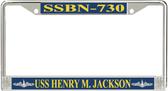 USS Henry M. Jackson SSBN-730 License Plate Frame
