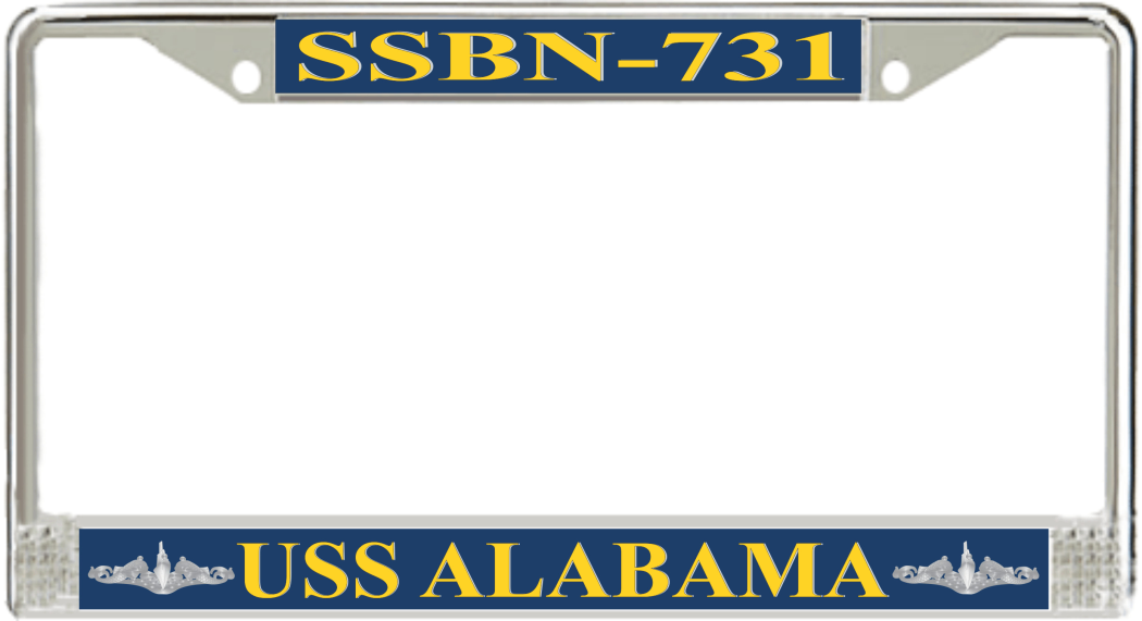 USS Alabama SSBN-731 License Plate Frame - Submarine Ship\'s Store
