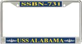 USS Alabama  SSBN-731 License Plate Frame