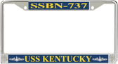 USS Kentucky  SSBN-737 License Plate Frame