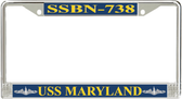 USS Maryland  SSBN-738 License Plate Frame