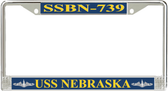 USS Nebraska  SSBN-739 License Plate Frame