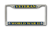Navy 'World War II Veteran' License Plate Frame
