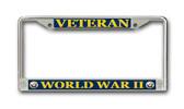 Navy 'World War II Veteran' License Plate Frame