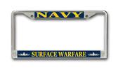 U.S. Navy Surface Warfare Enlisted License Plate Frame