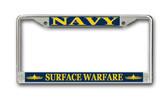 U.S. Navy Surface Warfare Officer License Plate Frame