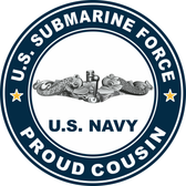 US Submarine Force Proud Cousin Decal
